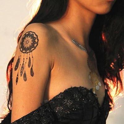 2 Hojas Flash De Tatuaje, negro, ATRAPASUEÑOS, Cazador de sueños ...