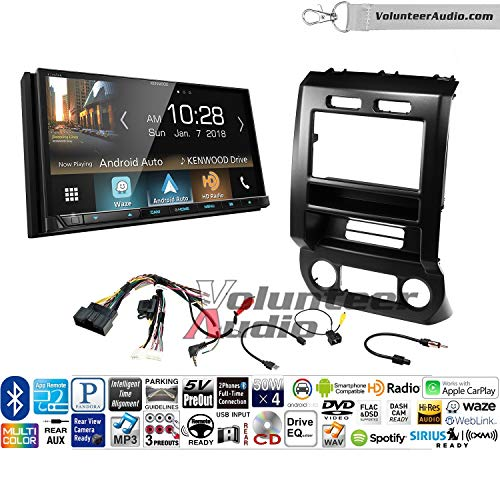 Volunteer Audio Kenwood Excelon Ddx8905s Double Din Radio Install Kit With Apple Carplay Android Auto Bluetooth Touchscreen Fits 2015 2016 Ford F 150 2017 Ford F 250
