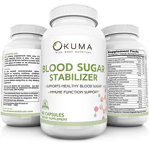 Blood Sugar Stabilizer - Promotes Healthy Insulin Levels | Helps Eliminate Energy Crashes | Reduces Brain Fog and sluggishness | Ideal for Seniors, Men, Women, and Professionals