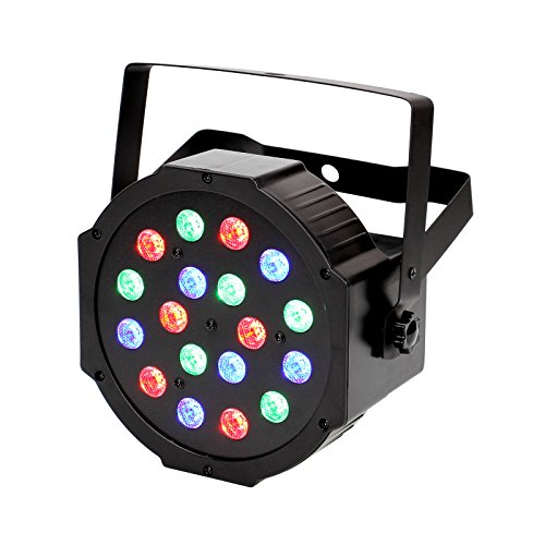 [TSSS RGB PAR Light 18 LEDs DMX512 Color Mixing Wash Can Stage Light Disco DJ Wedding Party Show Live Concert Lighting] (Rgb Wash)