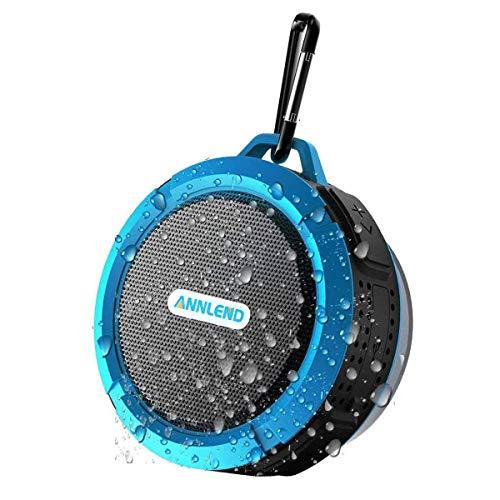 BONBON Bluetooth Shower Speaker Waterproof Mini Portable Wireless Water-Resistant Speaker Suction Cup, Built-in Mic, Hands-Free Speakerphone Bathroom Outdoor Travel Hiking Bike Home Party-Blue