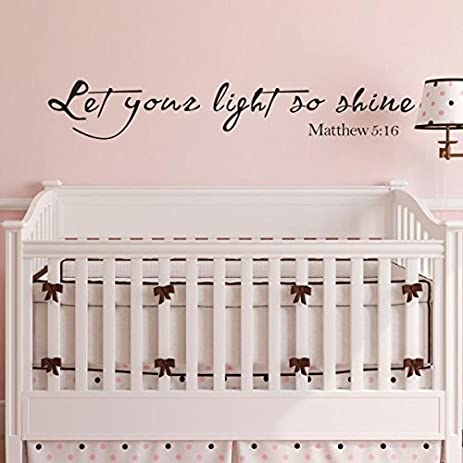 Amazoncom Let Your Light So Shine Matthew Wall Decal Bible - Vinyl wall decals bible verses