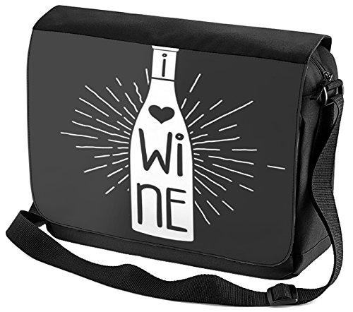 Umhänge Schulter Tasche Plakat Motiv Wein bedruckt Küchenmotiv