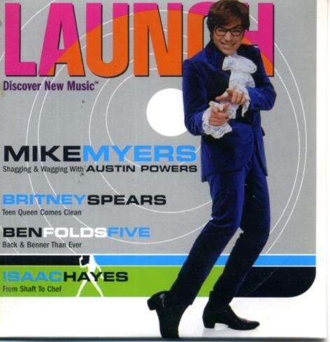 Launch CD-ROM Magazine #29 Mike Myers/Austin Powers on Cover, Britney Spears, Ben Folds Five, Isaac Hayes, Flaming Lips, Remy - Cover Spears Britney