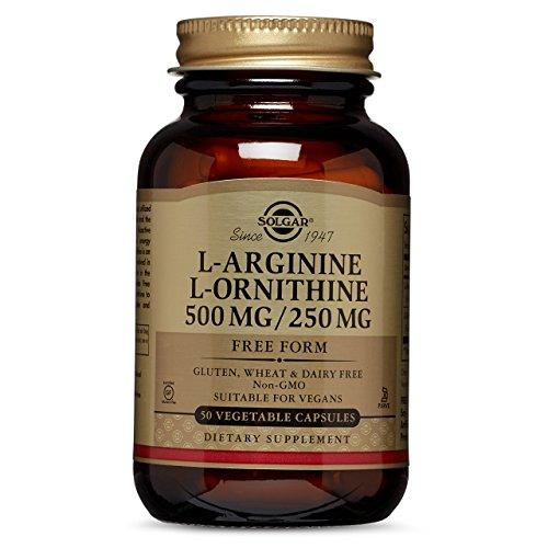 Solgar – L-Arginine/L-Ornithine 500/250 mg, 50 Vegetable Capsules