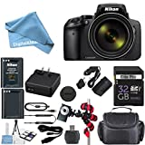 Cheap Nikon Coolpix P900 Wi-Fi 83x Zoom Digital Camera + Extra Replacement Battery + Original Accessories + 32GB Memory Card + Spider Flexible Tripod + Deluxe Carrying Case + 12pc Bundle