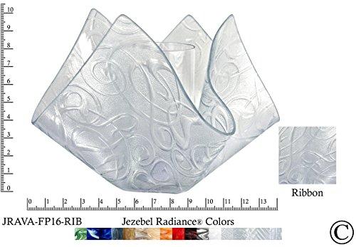 (Jezebel Radiance JRAVA-FP16-RIB Glass Vase Lamp, Ribbon)