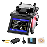 OrangeA Fusion Splicer Automatic Focus JW4108S FTTH Fiber Optic Fusion Splicer 5 Inch Digital LCD Screen Fusion Splicer Machine Fiber Cleaver Kit (JW4108S)