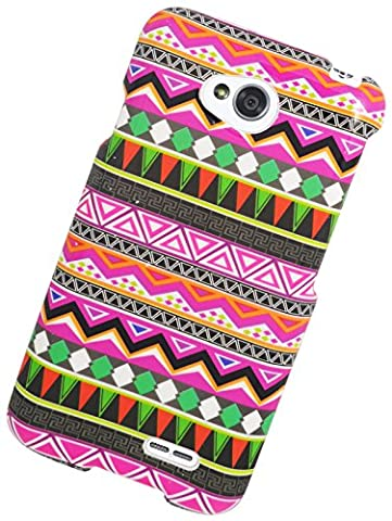 Eagle Cell Snap-On Protector Case for LG Optimus L70/Ultimate 2 L41C/Exceed 2/Realm LS620 - Retail Packaging - Elegant Tribal (Snap On Cell Phone Cases)