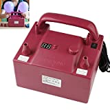 OriGlam Portable Electric Balloon Blower Pump, Dual Nozzle Rose Red Balloon Air Inflator, 110V 680W with 2 Inflation Nozzles For Decoration