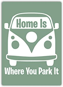XHYDPG is Where You Park It Metal Tin Sign Home Garage Bar Supplies Lightweight and Interesting Outdoor Decoration 12 X 8 Inch