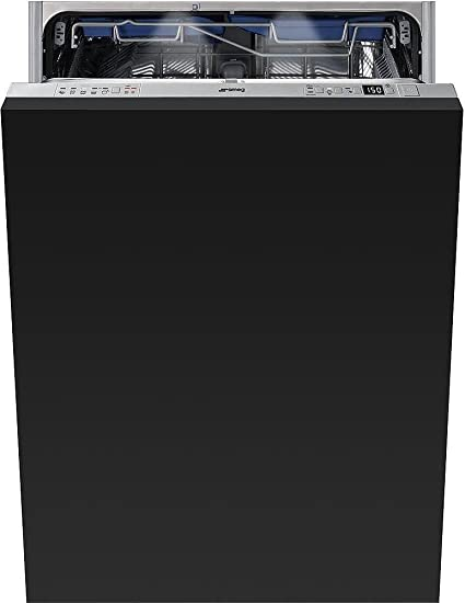 """13 Place Settings 10 Wash Cycles STU8649 Smeg Fully integrated 24/"""" Dishwasher Maxi-Height Door"""