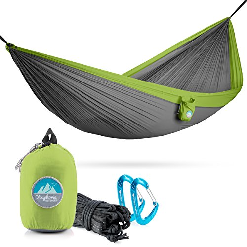 Youphoria Outdoors Portable Hammocks By Double Hammock with Tree Straps for Backpacking and Travel (only 12 oz) - 400 lb Rated (Double, - Bliss Straps Tree Hammocks