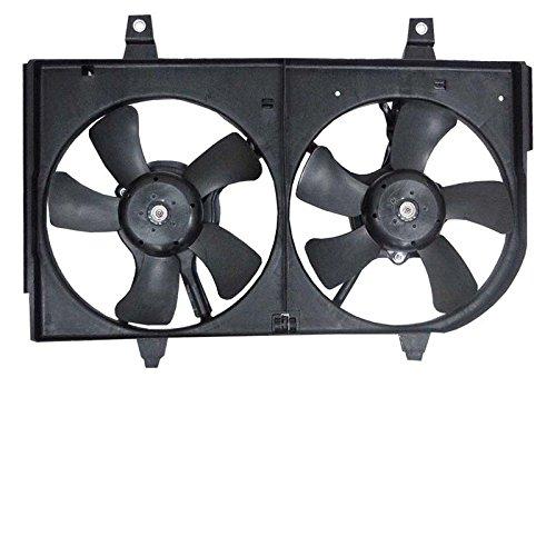 New Radiator Dual Fan Assembly For 2000 2001 Nissan Maxima & Infiniti I30 3.0L 3.5L VQ30DE VQ35DE, Replaces Nissan B1481-5U002 B1482-5U003