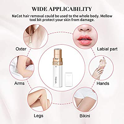 Facial Hair Remover for Women Painless Face Razors Electric Portable Pocket Impeccable Facial Hair Removal for Lip Chin Cheeks & Neck Ladies Trimmer Waterproof Epilator for Women