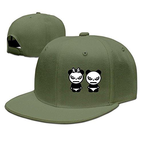 MaNeg Panda Couple Unisex Fashion Cool Adjustable Snapback Baseball Cap Hat One Size