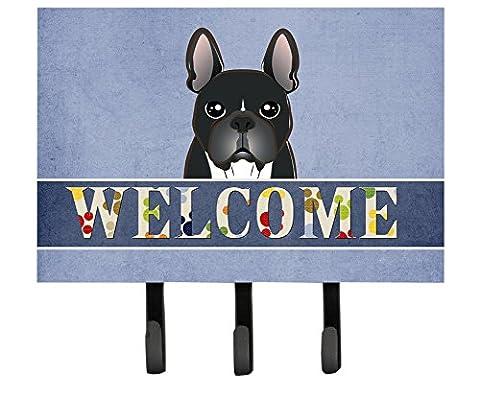 Caroline's Treasures BB1413TH68 French Bulldog Welcome Leash or Key Holder, Large, Multicolor - Bulldog Leash Hook