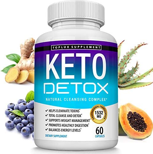Keto Detox Pills Advanced Cleansing Extract – 1532 Mg Natural Acai Colon Cleanser Formula Using Ketosis & Ketogenic Diet, Flush Toxins & Excess Waste, for Men Women, 60 Capsules, Lux Supplement 2
