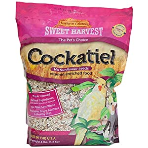 Sweet Harvest Cockatiel Bird Food (No Sunflower Seeds), 4 lbs Bag - Seed Mix for Cockatiels 33