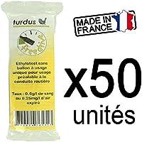 TURDUS Lot DE 50 Ethylotests