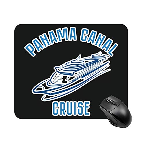 Uclipers Gaming Mouse Pad, Panama Canal Cruise Vacation Trip Gift Tee Thick Mouse Mat for Computers