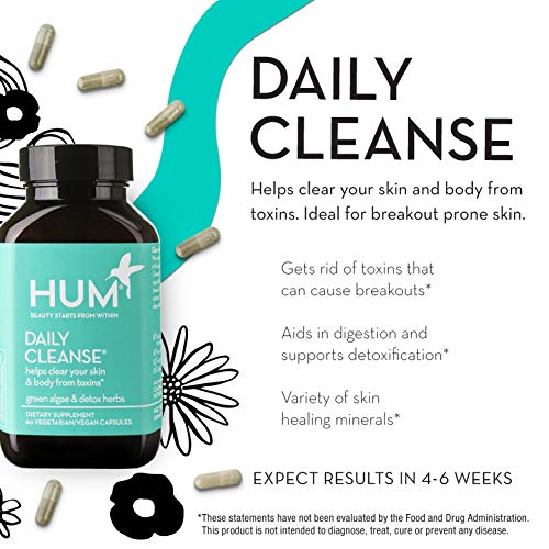 HUM Daily Cleanse - Skin & Body Detox with Organic Algae, 15 Herbs + Minerals (60 Vegan Capsules) by HUM (Image #2)