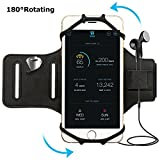 "Yahuan Running Armband for iPhone X/ 8 Plus/ 8/ 7 Plus/ 7/ 6S Plus/ 6S/ 6/ 5S/ SE,180 Rotatable Sports Workout Armband Phone Holder for SAMSUNG Galaxy S8/ MOTO Z and Other Phone from 4"" to 5.8"""