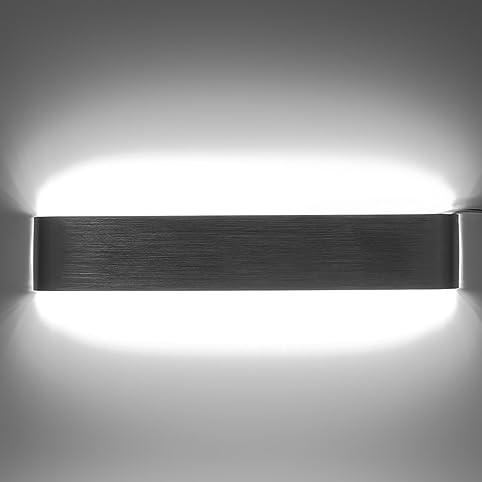 85u2014265V Modern Minimalist Aluminum LED Wall L& Bedside Hallway Bathroom Mirror Light 18W 48CM & 85-265V Modern Minimalist Aluminum LED Wall Lamp Bedside Hallway ...