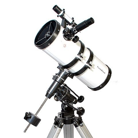 White TwinStar 6'' Short Tube Reflector Telescope EQ Mount
