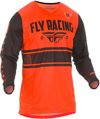 (Fly Racing Men's Kinetic Mesh Era Jersey Neon Orange/Black Youth X-Large)