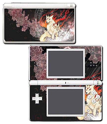 Okami Okamiden Amaterasu Chibiterasu Japanese Wolf God Video Game Vinyl Decal Skin Sticker Cover for Nintendo DS Lite System