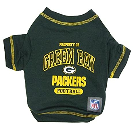 sale retailer 78f3c af361 Amazon.com : Pet Care Preferred Green Bay Packers Dog T ...