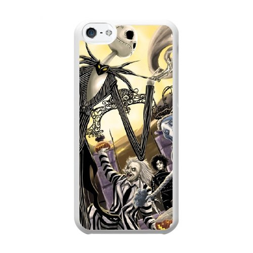 Coque,Coque iphone 5C Case Coque, Corpse Bride And Nightmare Before Christmas Cover For Coque iphone 5C Cell Phone Case Cover blanc