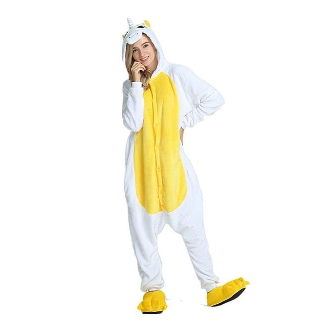 ef198cad94 Rainbow Fox Adultos Unicornio pijama con alas Cosplay disfraz Animal Ropa  de dormir Franela Novedad ropa  Amazon.es  Ropa y accesorios