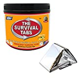 Emergency Blanket Survival Camping Gear MRE Meal Ready to Eat 90 Tabs Emergency Camping Food Vanilla Combo