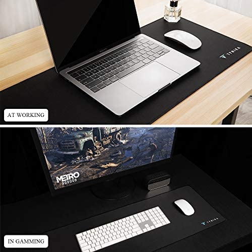 TYNIKA Extended Gaming Mouse Pad (31.5x11.8Inches) - XXL Mousepad with Anti Fray Stitched Edges & Non-Slip Rubber Base - Desk Pad Protector / Waterproof Mouse Mat for Work & Gaming, Office & Home