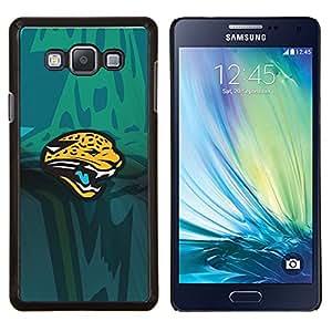 Equipo Panther Deportes- Metal de aluminio y de plástico duro Caja del teléfono - Negro - Samsung Galaxy A7 / SM-A700