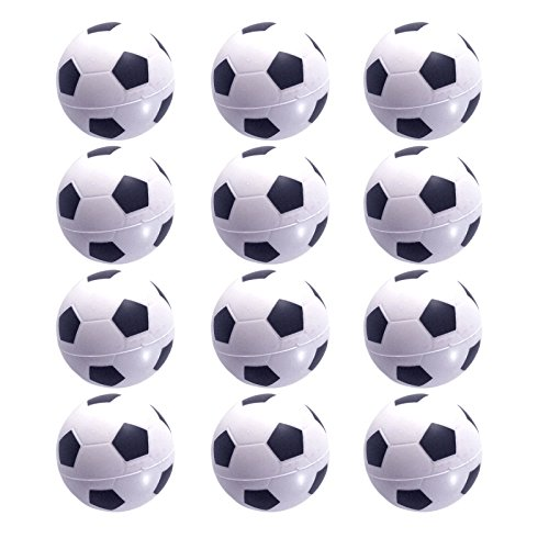 Mini Sports Balls for Kids Party Favor Toy, Soccer Ball, Basketball, Football, Baseball (12 Pack) Squeeze Foam for Stress, Anxiety Relief, Relaxation. (12 Pack (Soccer (Soccer Ball Party)