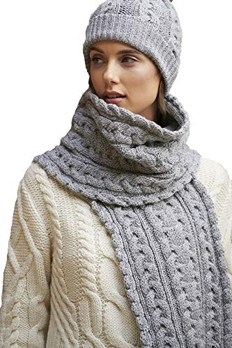 Aran Crafts Cable Knit Chunky Scarf 10