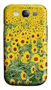 case mate Samsung S3 cover Garden Sun Flowerss 3D cover custom Samsung S3