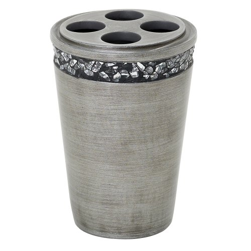 Zenna Home, India Ink Altair Toothbrush Holder, Pewter from Zenna Home