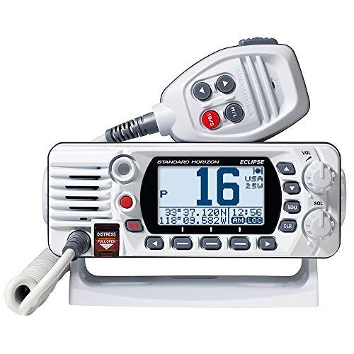 Eclipse 2 Way Radio - Standard Horizon GX1400G Eclipse Fixed Mount VHF Radio with Built-in GPS - White