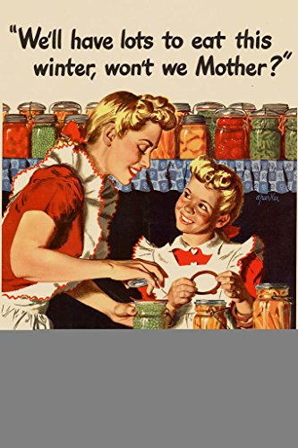 Large Plaid Wallpaper - WPA War Propaganda We Will Have Lots To Eat This Winter Wont We Mother Grow Your Own Mural Giant Poster 36x54 inch