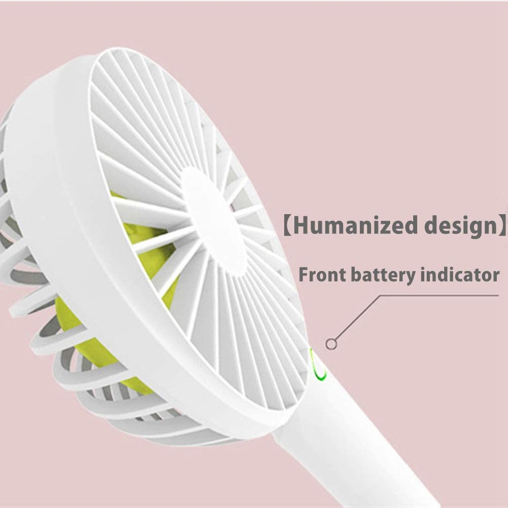 Blue Mini Handheld Fan USB Charging for Office and Outdoor Personal Portable Handheld Desktop Fan
