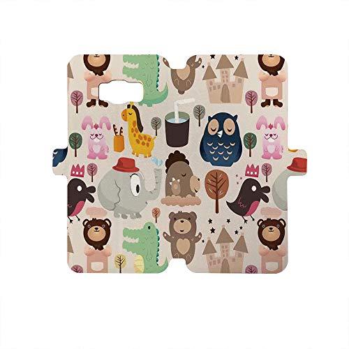 Painted Galaxy S8 Case - Premium Protective Cover Phone Cases for Girls,Kids,Giraffe Crocodile Teddy Bear Elephant Bird Cartoon Toy Animals Castle Comic Decorative,