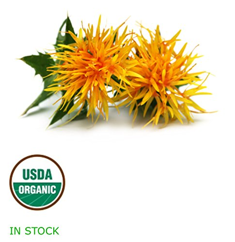 RAW Safflower Oil | High Oleic Virgin, Organic, Unfiltered, Cold Pressed | Carthamus tinctorius | Healthy Fat Metabolism and Cardiovascular Support | 4 oz