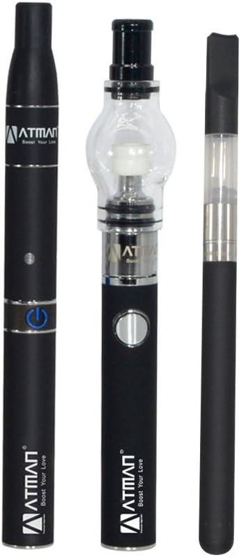 ATMAN Luxury Triad Kit para hierba / cera / líquido sin nicotina, negro