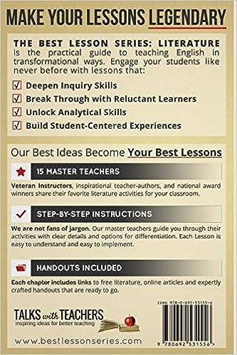 Amazon.com: The Best Lesson Series: Literature: 15 Master Teachers ...