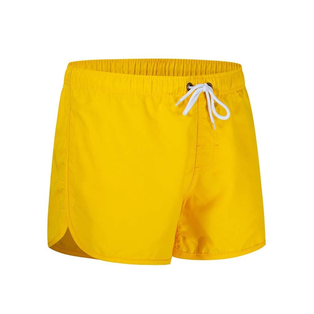MOIKA Shorts de Bain Homme Grande Taille Couleur Unie Sport Surf sur La Plage Casual Running Surf Sports Maillot avec Poche Bermuda Homme Taille /éLastique