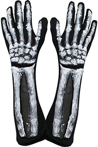 Skeleton Zombie Adult Mens Costumes (Kangaroo's Halloween Accessories - Deluxe Skeleton Gloves)